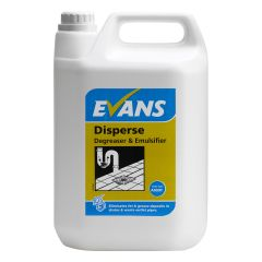 Evans Disperse Degreaser & Emulsifier 5 Litre Janitorial Supplies