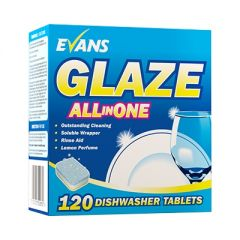 Evans Glaze All in One Dishwasher Tablets 120 Tabs Janitorial Supplies