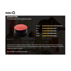 Delta Q09 Coffee capsules Qharacter Janitorial Supplies