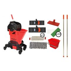 Scrubclean Starter Kit with Pal-O-Mine Red Janitorial Supplies