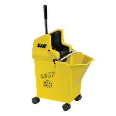 Nu Lady Kentucky & Flat Mop Bucket Combo Yellow Janitorial Supplies