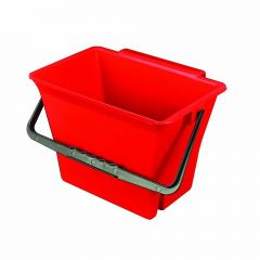 Klingon Bucket with Handle Red 7 Litre Janitorial Supplies