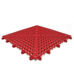 Leisure Safety Mat PVC 30 x 30cm Red Janitorial Supplies