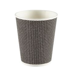 Premium Exclusive Black Ripple Paper Cup 8oz 237ml Janitorial Supplies