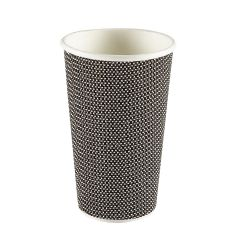 Premium Exclusive Black Ripple Paper Cup 16oz 473ml Janitorial Supplies