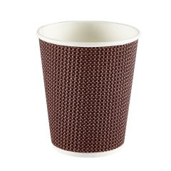 Premium Exclusive Brown Ripple Paper Cup 8oz 237ml Janitorial Supplies