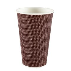 Premium Exclusive Brown Ripple Paper Cup 16oz 473ml Janitorial Supplies