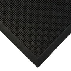Natural Fingertip Rubber Entrance Mat Black 90x150cm Janitorial Supplies