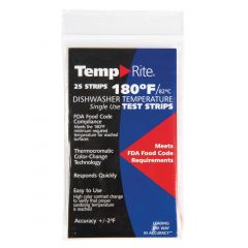 TempRite 180 Degrees F Dishwasher Temperature Test Strip Janitorial Supplies