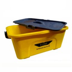 Ettore Compact Yellow Bucket & Lid 10 Litre Janitorial Supplies