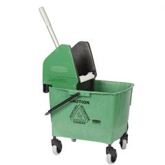 Rubbermaid  25 Litre Kentucky Mop Bucket Green Janitorial Supplies