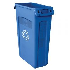 Rubbermaid Slim Jim Vented Bin Blue 87 Litres Janitorial Supplies