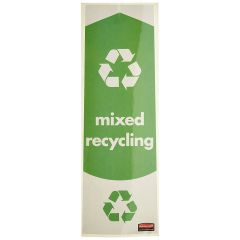Rubbermaid Slim Jim Mixed Recycling Labels Pack of 4 Janitorial Supplies