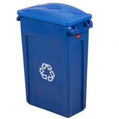 Rubbermaid Slim Jim Commingle Recycling Blue 87 Litre - Set Janitorial Supplies