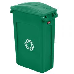 Rubbermaid Slim Jim Commingle Recycling Green 87 Litre - Set Janitorial Supplies
