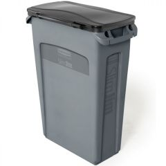 Rubbermaid Slim Jim Hinged Grey 87 Litre - Set Janitorial Supplies
