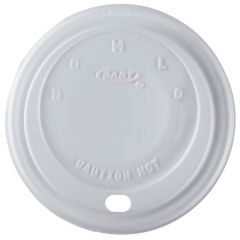 Dart 10EL Domed Foam Cup Lid White 10oz Janitorial Supplies