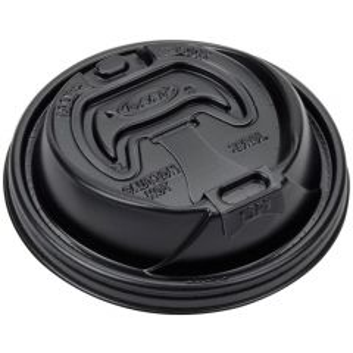 Dart Optima Black Foam Cup Lid 20oz Janitorial Supplies