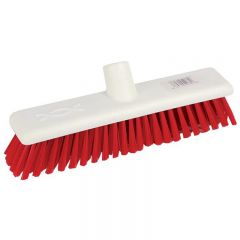 "Broom Head Washable Stiff Red 12"" 30cm Janitorial Supplies"