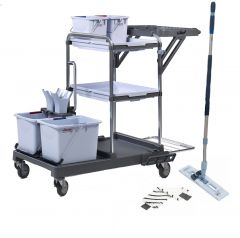 Vileda Origo 100 FX Ready To Go Trolley Kit Janitorial Supplies