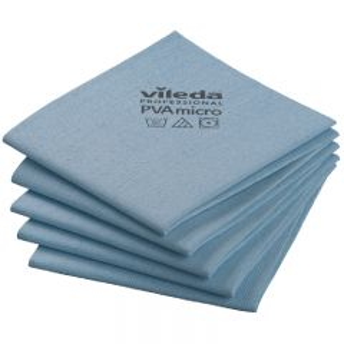 Vileda PVAmicro Streak-Free Cloths Blue Janitorial Supplies