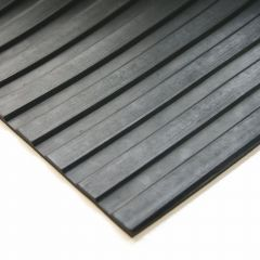 Anti-Slip Fluted Rubber Mat Black 90cm x 3 Milimeter x 3 Meter Janitorial Supplies