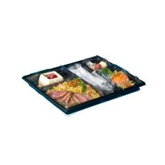 Selfipack Presentation Meal Tray 32cm Black Base and Clear Lid Janitorial Supplies