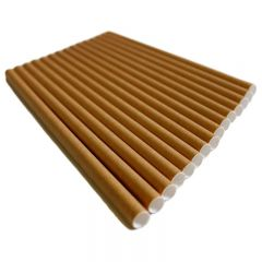 Biodegradable Kraft Paper Straws 197mm Brown Janitorial Supplies
