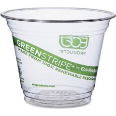 Compostable Clear Squat Tumbler Cup 9oz 265ml