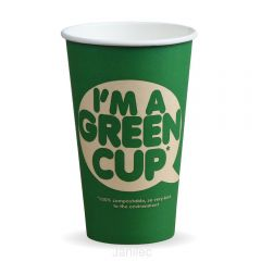 16oz Single Wall IM A GREEN CUP Compostable Janitorial Supplies
