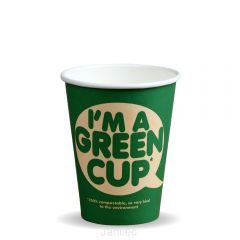 12oz Single Wall IM A GREEN CUP Compostable Janitorial Supplies