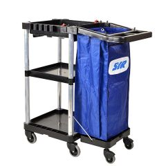 Spacesaver Janitorial Trolley Without Cut Out Cart Janitorial Supplies