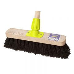 "Premium Wooden Broom Complete Stiff 12"" With Heavy Duty Stay Janitorial Supplies"