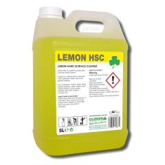 HSC Lemon Hard Surface Cleaner 5 Litre Janitorial Supplies