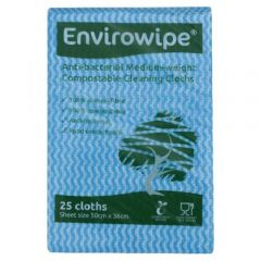 Natural Anti-bacterial Compostable Cloths Blue Janitorial Supplies