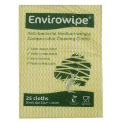 Natural Anti-bacterial Compostable Cloths Yellow Janitorial Supplies