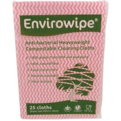 Natural Anti-bacterial Compostable Cloths Red Janitorial Supplies
