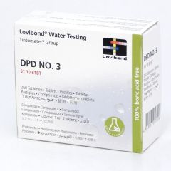 Lovibond DPD3 511081BT Standard Test Tube Tabs 250 Tablets Janitorial Supplies