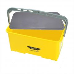 Ettore Super Yellow Bucket & Lid 25 Litre Janitorial Supplies