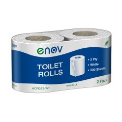 Enov Toilet Rolls Twin Pack 320 Sheets Janitorial Supplies