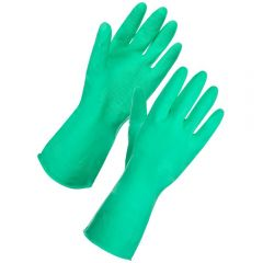Rubber Household Gloves Small Green Janitorial Supplies