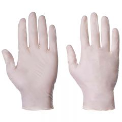 Latex Powdered Examination Gloves Natural Small Janitorial Supplies