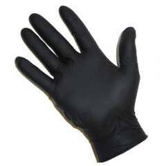 Nitrile Premium Powder Free Gloves Medium Black Janitorial Supplies