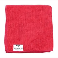 Unger Red Microfibre Micro Wipe Cloth Janitorial Supplies