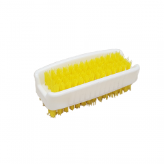 Janilec Double Sided Nail Brush Yellow Janitorial Supplies