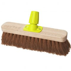"""Premium Wooden Broom Head Soft Coco 11"""" Janitorial Supplies"""
