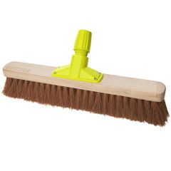 """Premium Wooden Broom Head Soft Coco 18"""" Janitorial Supplies"""