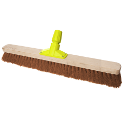 """Premium Wooden Broom Head Soft Coco 24"""" Janitorial Supplies"""