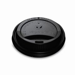 Vegware 79 Series Black Hot Cup Lid Janitorial Supplies