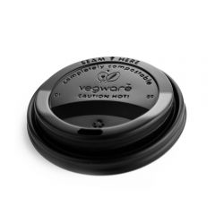 Vegware 89 Series Black Hot Cup Lid Janitorial Supplies